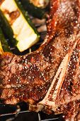 picture of flank steak  - steak on grill - JPG