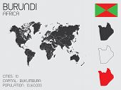 stock photo of burundi  - A Set of Infographic Elements for the Country of Burundi - JPG