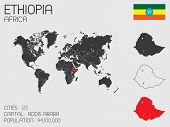 image of ethiopia  - A Set of Infographic Elements for the Country of Ethiopia - JPG