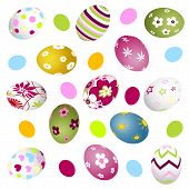 foto of home is where your heart is  - colorful easter eggs for your design and vector illustration - JPG