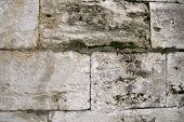 pic of stonewalled  - Ancient Turkish Beige Stonewall from Ottoman period for Background shot at Topkapi Palace, Istanbul, Turkey