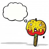 image of toffee  - cartoon toffee apple - JPG