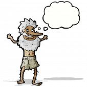 picture of hermit  - cartoon old hermit man - JPG