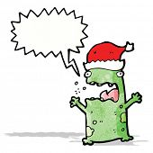 picture of belching  - cartoon shouting christmas frog - JPG
