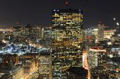 foto of prudential center  - Boston John Hancock Tower and Back Bay Skyline at night - JPG