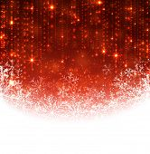 image of xmas star  - Red winter abstract background - JPG