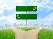 picture of crossroads  - Crossroads road sign - JPG