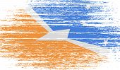 image of tierra  - Flag of Tierra del Fuego Province with old texture - JPG