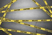 foto of safety barrier  - Strips of caution create barrier to dangers - JPG