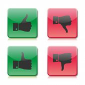 stock photo of dislike  - Buttons like and dislike two versions vector illustration - JPG