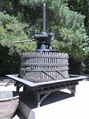 picture of wine-press  - Ancient wine press - JPG