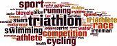 image of triathlon  - Triathlon word cloud concept - JPG