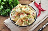 stock photo of italian parsley  - Dumplings and parsley  - JPG