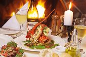 image of snow peas  - Presentation of whole Crayfish with Snow Peas - JPG