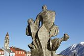 picture of lagos  - A sculpture is located at the Bay of Ascona  - JPG