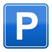 foto of traffic sign  - Road sign for parking space  - JPG