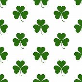 picture of saint patrick  - Seamless pattern with Saint Patricks day shamrock symbols - JPG