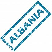 picture of albania  - Albania grunge rubber stamp on a white background - JPG