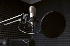 picture of studio  - professional studio grade microphone with anti - JPG