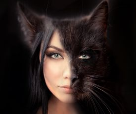 foto of independent woman  - cat woman - JPG