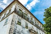stock photo of abandoned house  - Abandoned house in the historic center of Salvador - JPG