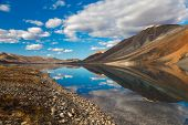 picture of chukotka  - Reflection in polar mountain lake in Chukotka - JPG