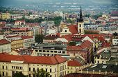 picture of red roof  - View to the red roofs of  Brno city - JPG