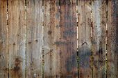 picture of log fence  - Old board wood plank as grunge background - JPG