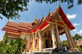 stock photo of buddhist  - The Wat Chalong Buddhist temple in Chalong - JPG