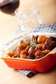 picture of ouzo  - closeup of a traditional greek stifado dish - JPG