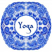 image of yoga  - ector yoga illustration - JPG