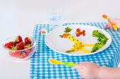 pic of vegetarian meal  - Healthy vegetarian lunch for little kids - JPG