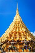 stock photo of emerald  - Wat Phra Kaew Temple of the Emerald Buddha Bangkok Thailand. ** Note: Visible grain at 100%, best at smaller sizes - JPG