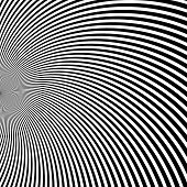 image of psychedelic  - Digital abstract image with a psychedelic circular web pattern - JPG