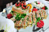 picture of catering service  - buffet catering food arrangement on table - JPG