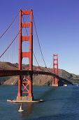image of golden gate bridge  - the golden gate bridge