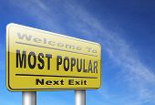 most popular sign popularity road sign billboard for wanted bestseller or market leader and top prod poster