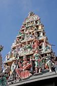 image of hindu-god  - Ornate statues in indian temple depicting hindu gods - JPG