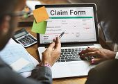 Claim Form Document Fefund Indemnity Concept poster