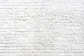 White Brick Wall Background. Texture Of Beautiful Whitened Masonry . Painted Bricks Wall poster