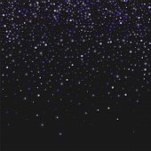 Lilac Shine Of Confetti. Luxury Festive Background. Lilac Translucent Abstract Dot And Shining Stars poster