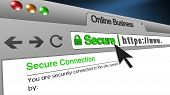 High Resolution 3d Illustration Of Ssl Secure Browser With Text Online Business Secure. Great Concep poster