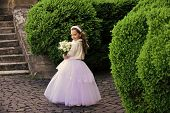 Young Princess. Fashion, Cinderella, Princess. Wedding Fashion, Beauty Salon. Girl Child In Green Su poster