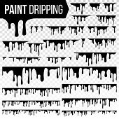 Paint Dripping Liquid Set Vector. Abstract Ink, Paint Splash. Various Blood Splatters. Chocolate, Sy poster