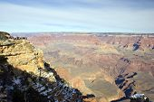 Winter Tourists In Grand Canyon, Az poster