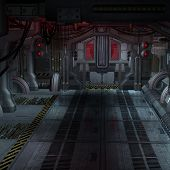 picture of starship  - An empty Room in an starcraft vessel - JPG
