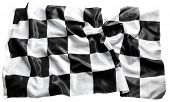 Checkered black and white racing flag  poster