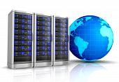 Network Workstation Server 3D Illustration poster