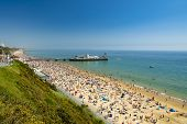 Sunshine Illuminates Golden Beaches And Blue-green Seas Along The Dorset Coast Between Poole And Bou poster