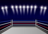 Boxing Ring Concept Background. Realistic Illustration Of Boxing Ring Vector Concept Background For  poster